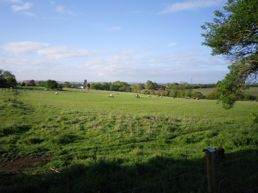 View to Lavendon Church from Castle Road - 10th May 2010