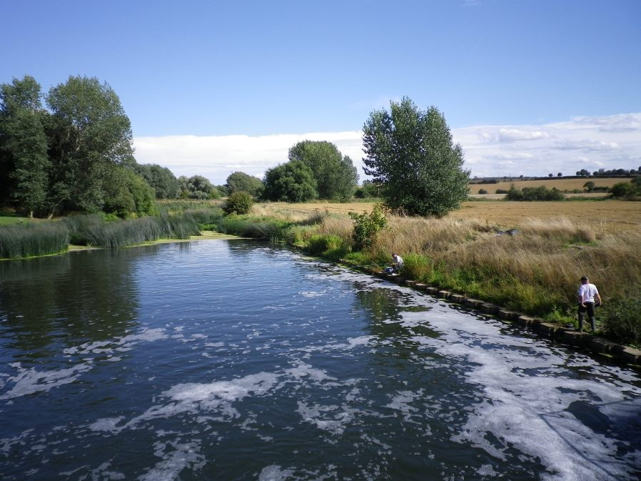 Fishing Below the Sluice at Lavendon Mill - 22nd August 2010
