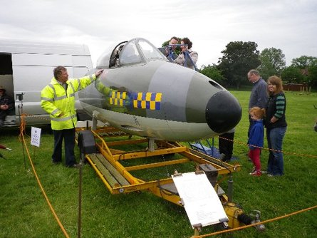 Hawker Hunter on display at the Queen's Diamond Jubilee celebrations, Lavendon