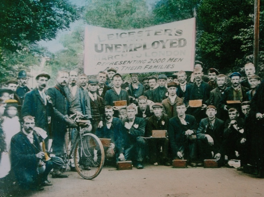 Leicester's Unemployed Marchers, June 1905. With thanks to www.thiswasleicester.co.uk.