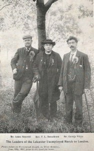 Leaders of the Leicester Unemployed March to London via Lavendon, 12th June 1905. Photo with thanks to www.thiswasleicestershire.co.uk