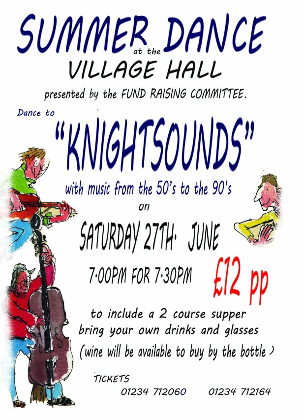A Summer Dance at Lavendon Village Hall 27th June 2015