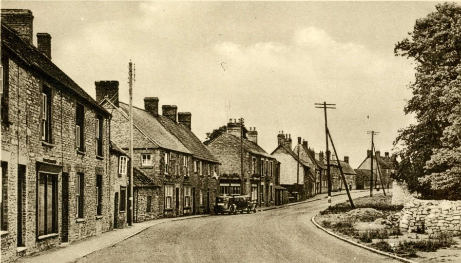 Northampton Road, Lavendon, circa 1947.