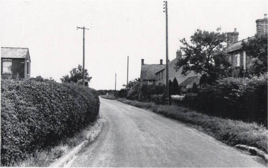 Harrold Road, Lavendon, facing to the north-east.