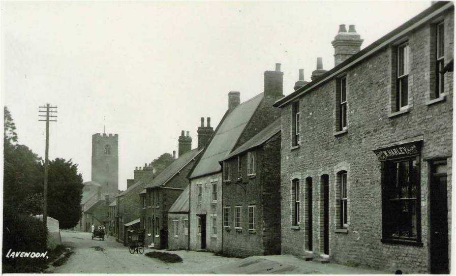 Northampton Road, Lavendon, before road widening.