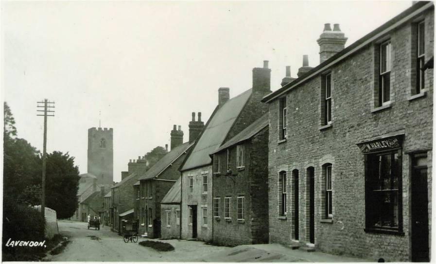 Northampton Road, Lavendon, before road widening.