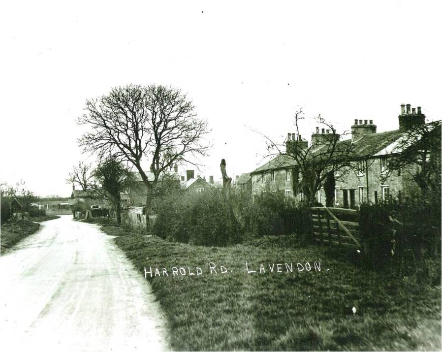 Harrold Road, Lavendon, facing to the south-west.