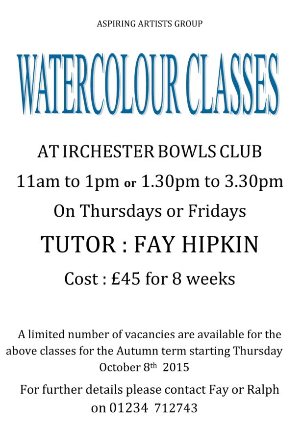 Water Colour Classes by Fay Hipkin
