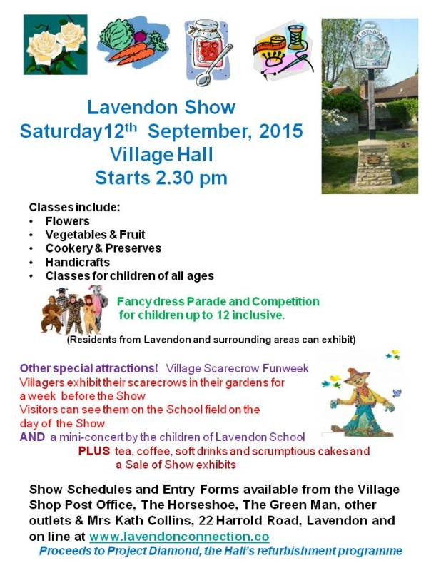 Lavendon Show on 12th September 2015