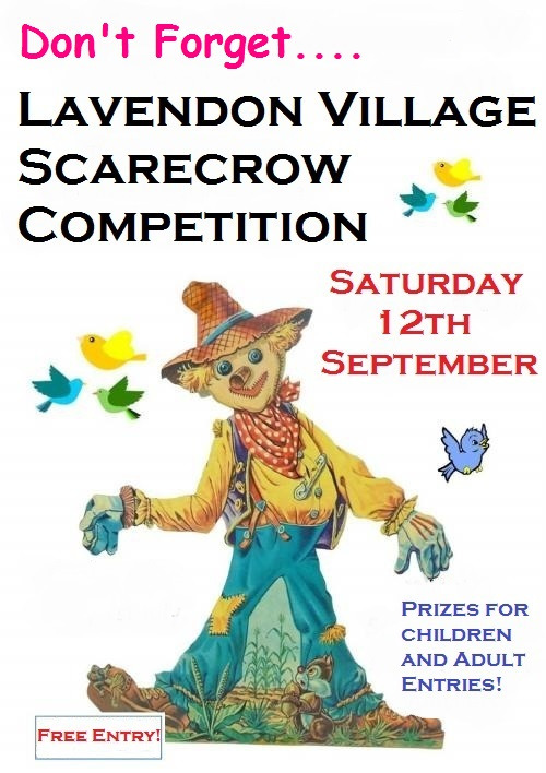 Scarecrow competition on Saturday, 12th September at the Lavendon Show