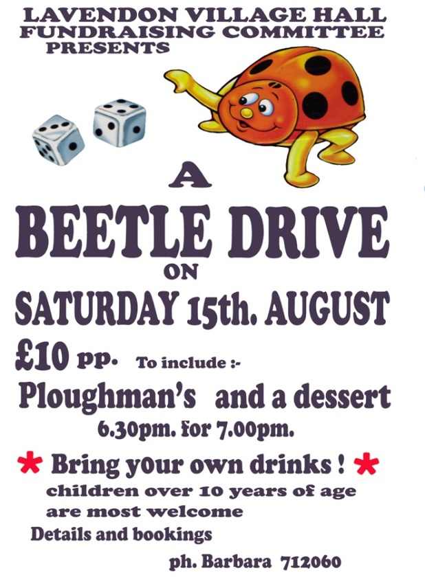 Village Hall Fundraising Beetle Drive