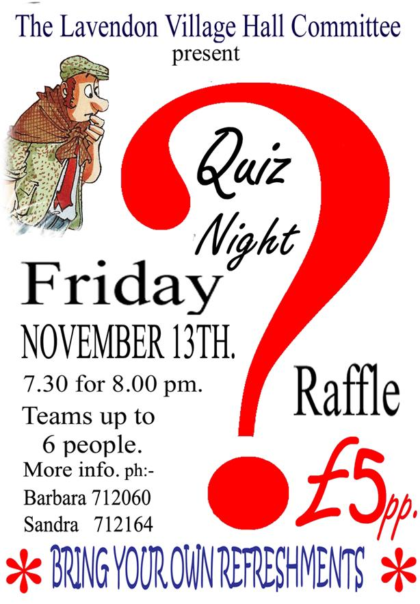 Quiz Night 13th November 2015