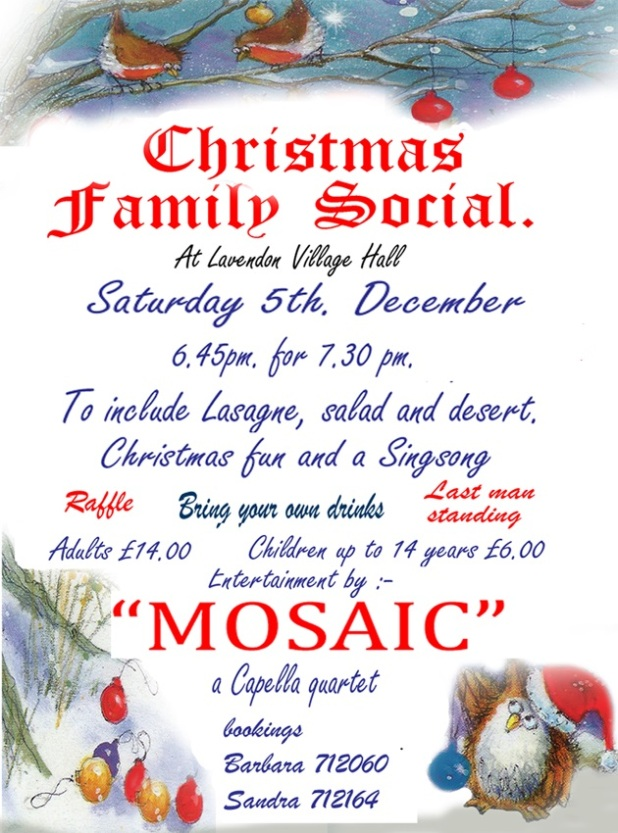 Christmas Social, 5th Dec 2015