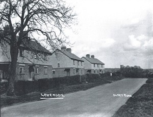 Early view of Council Houses in Olney Road, Lavendon