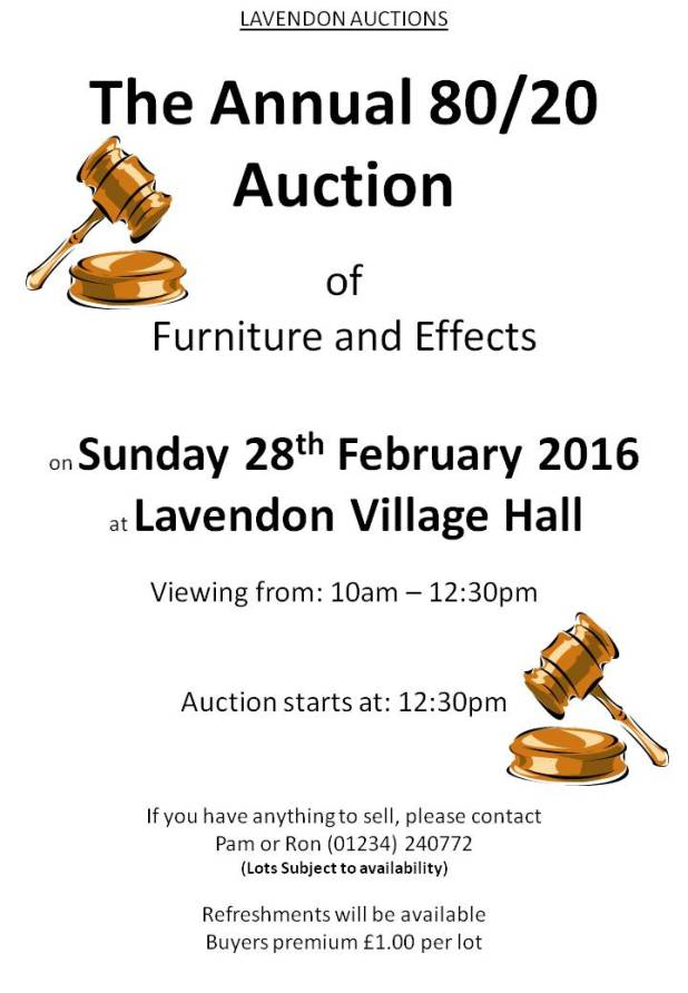 80/20 Lavendon Auction 2016