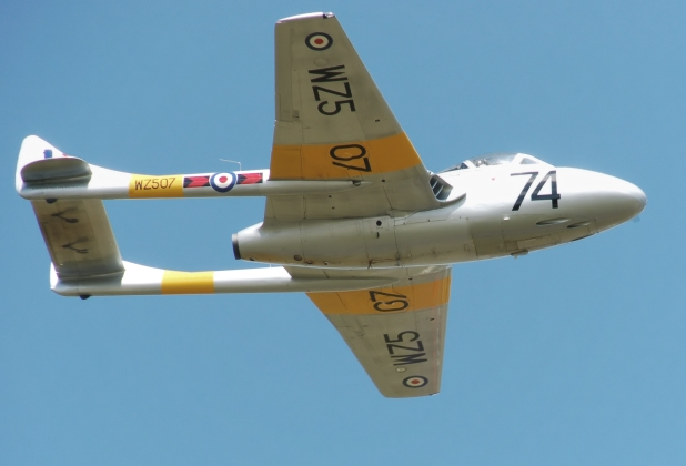 T11 de Havilland Vampire - Photographed by Adrian Pingstone in June 2010 and released to the public domain.