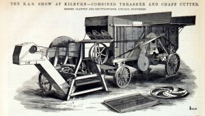 A Clayton and Shuttleworth Threshing Machine