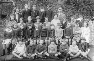 Lavendon School with Mr Bristow (top right)