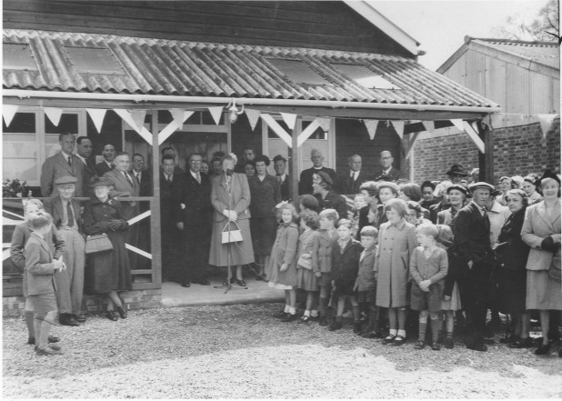 "Lavendon Village Hall was officially opened on 7th May 1955 by Courteney Hope of BBC radio's ""The Archers"" fame."