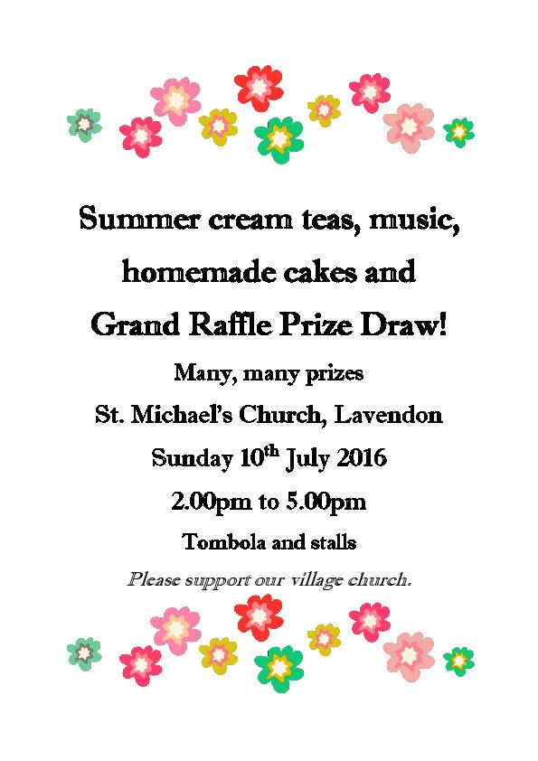 Summer Cream Teas at St Michael's Church, Lavendon.