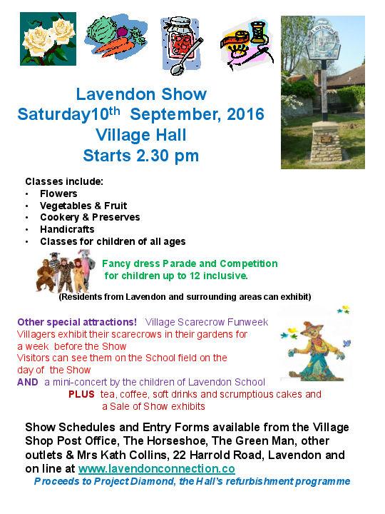 2016 Lavendon Show
