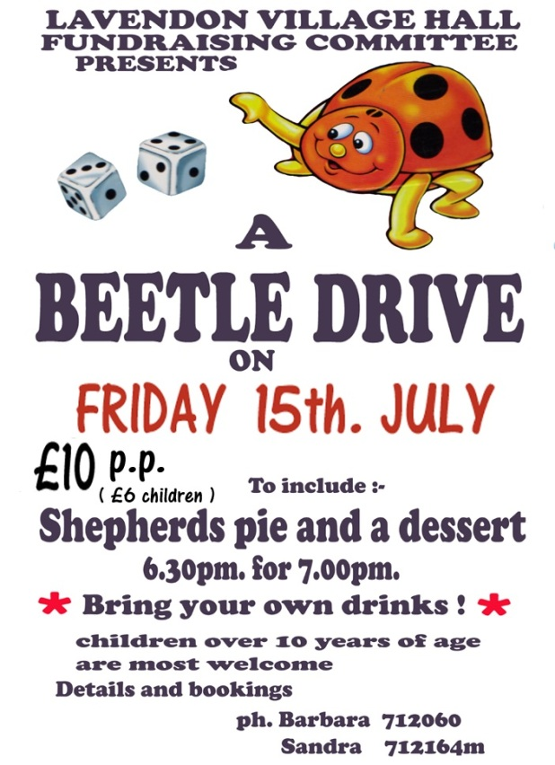 Beetle Drive at Lavendon Village Hall