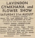 Advert for 1946 Lavendon Gymkhana & Flower Show