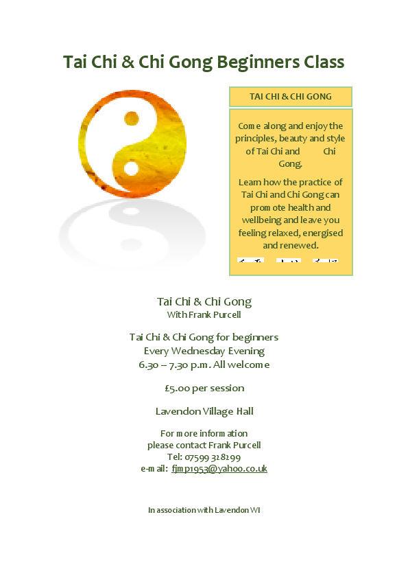 Tai Chi & Chi Gong Beginners Class