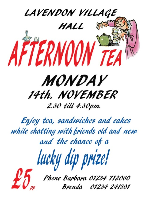 Afternoon Tea Lavendon Village Hall
