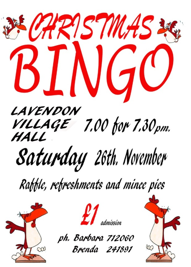 Christmas Bingo at Lavendon Village Hall
