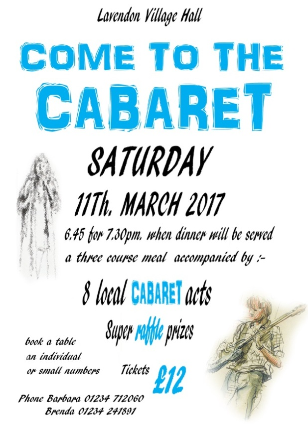 11th March 2017 Come to the Cabaret