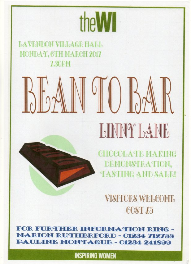 "6th March 2017 - WI talk ""Bean to Bar"" for Chocoholics"