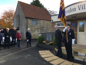 Mr Roddy Moore inspecting the memorial