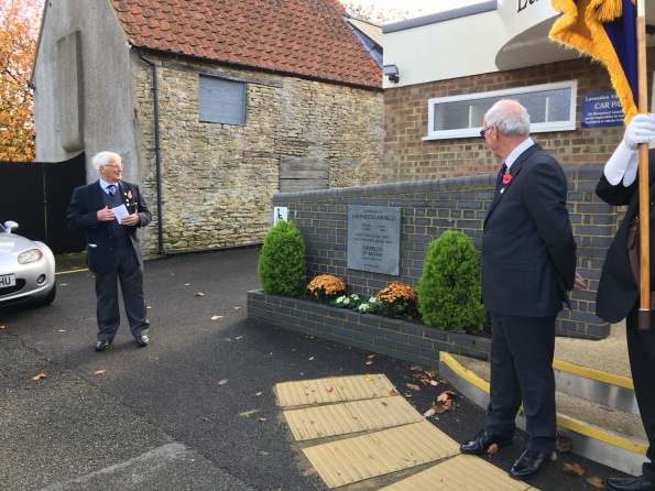 The RBL Chairman spoke about the airfield and memorial prior to its unveiling